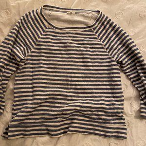 Blue and White striped pull over